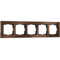 Рамка на 5 постов (коричневый алюминий) WL11-Frame-05 Werkel