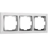 Рамка на 3 поста (белый/хром) WL03-Frame-03-white Werkel