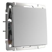 Выключатель одноклавишный проходной (серебряный) WL06-SW-1G-2W Werkel